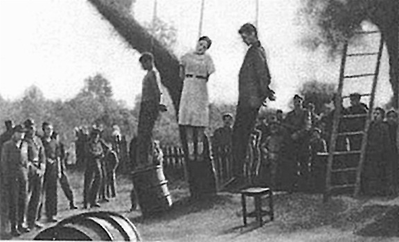 Nazi Women Guards Being Hanged http://www.capitalpunishmentuk.org/nazi.html
